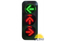 400mm RG Clear Lens Arrow LED Traffic Light