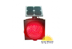 400mm Solar Red Flashing Light