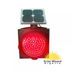 400mm Solar Red Flashing Light